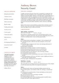 Sample Resume For Security Guard Security Guard Cv Sample Random Sample Resume Resume Resume