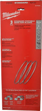 portable band saw blades. milwaukee tool 44-7/8inches x1/2 10/14t 3pk bi- portable band saw blades a