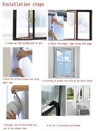 400cm Airlock Tragbar Klimaanlage Fenster Abdichtung Hot Air Stop Klimagerät De