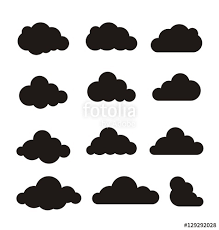 Toy Story Clouds Template Cloud Vector Clouds Vector Cloud Icon Cloud Icons Set Two Colors