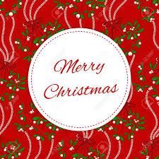 Christmas Design Template Vintage Merry Christmas Card Design Template Vector Red Season