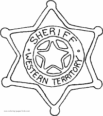 Small Picture Sheriff Star Coloring Sheet For Kids Coloring Home