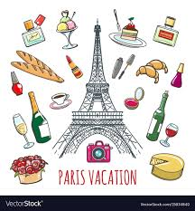 French Country Vacation Doodle Elements