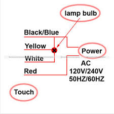ac 110v 220v table desk light 3 way touch control sensor bulb lamp 3-Way Switch Wiring Diagram for 1 Light at Wiring Diagram Three Way Touch Light