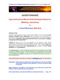 Small Business Questionnaire Small Business Questionnaire 2 3 Docshare Tips