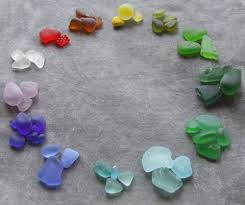 beach glass colour chart
