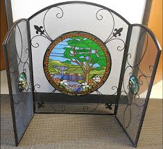 leaded glass fireplace screens amazing creative family room of leaded glass fireplace screens