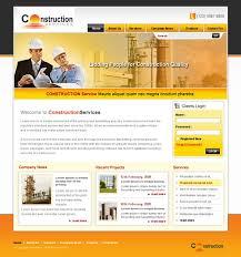 Construction Website Templates Custom Construction Website Templates Free Pakbadminton