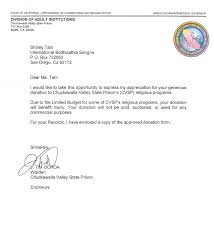 Donation Approved Letter For Ibs Update Aug 2011 Buddhist Causes
