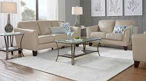 Livorno Beige Leather 40 Pc Living Room Leather Living Rooms Beige Mesmerizing Leather Couch Living Room Ideas Model