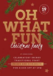 Christmas Event Oh What Fun Christmas Party Event Template Easil