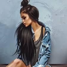 Image about girl uploaded by Karamel'ka♡ on We Heart It in 2020 | Digital  art girl, Black art pictures, Girls cartoon art