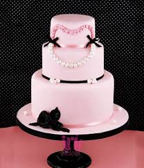 Classy Pink Tier Bridal Shower Cake Iris Select Goa Free Delivery