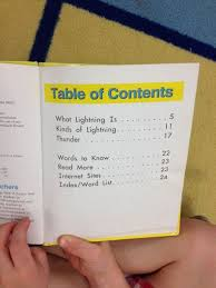 table of contents example Biantable