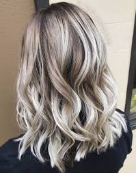 White Ash Blonde Balayage Shadow Root