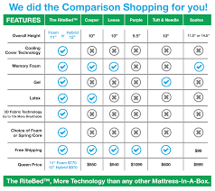 mattress brands. The RiteBed Leading Mattress Brands Comparison T