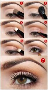 i love these tutorial things to guide you through the makeup look daytime eye makeup for brown hazel