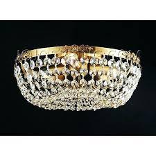 flush mount crystal chandelier polished chrome