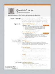 Template Resume Examples Great 10 Ms Word Templates Free Download