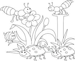 Free Spring Coloring Pages To Print Preschool Spring Coloring Pages