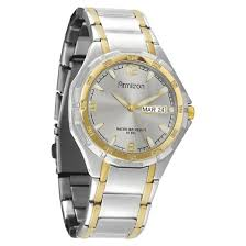 armitron® men s two tone round dial dress watch target about this item