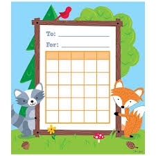 Creative Charts For School Woodland Friends Student Incentive Chart Ctp1724