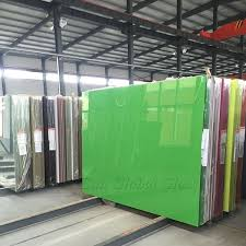 8mm lacquered glass customized design 8mm colored painted glass panels jumbo size 8mm colourful