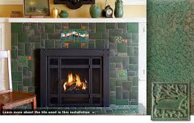the ad that motawi tileworks runs american bungalow became my inspiration for the floor tile in front of otb s fireplace here s an example of motawi tile
