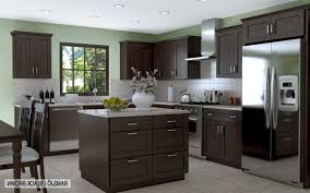 kitchens with dark brown cabinets. Dark Chocolate Kitchen Cabinets Inspiration Brown Wood Stained From Cabinet, Source: Kitchens With S