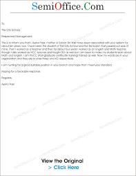 application for school teacher job samples teaching job application as mother of students