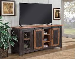 Martin Svensson Home Santa Fe 65Inch TV Stand Antique Black U0026 Aged  Distressed 65 Inch Tv Stand64