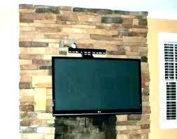 hang tv on brick wall how