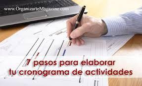 formato cronograma de actividades mensual 7 pasos para elaborar tu cronograma de actividades organizarte