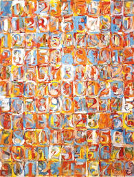 numbers in color painting jasper johns numbers in color art print