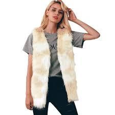 ซ อท ไหน winter women s vest warm luxury fur vest for women faux fur coat vests women coats jacket high quality furry vest coat ในประเทศไทย