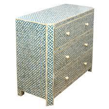 Roomattic Aqua Blue Bone Inlay Chest Of Drawers Dresser Bone Inlay Dresser85