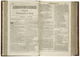 all s well that ends well shakespeare library opening pages of the first folio edition of all s well that ends well