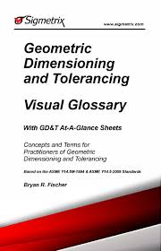 Geometric Tolerancing Reference Chart Geometric Dimensioning And Tolerancing Visual Glossary With Gd T At A Glance Sheets
