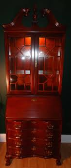 Jasper Curio Cabinet Vintage Wood Glass Jasper Cabinet Colonial Red Mahogany