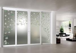 etched glass door panels ideas for double sliding doors