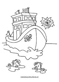 Kleurplaat Vrachtschip Schip Boot Vervoer