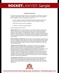 Sales Commissions Template Sales Commission Agreement Template Form With Sample