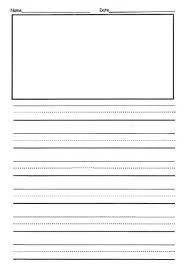 Handwriting Paper Printable Free Custom Free 48nd Grade Writing Template This Is Front Back And They Can
