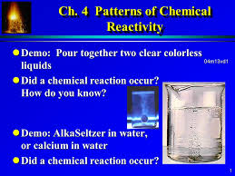 ch 4 patterns of strong chemical strong reactivity