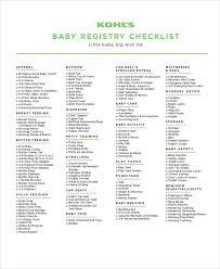 11 Baby Checklist Printable Terraincognitarpg Net