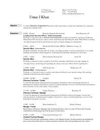 Security Guard Resume No Experience Job And Resume Template
