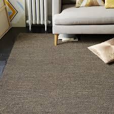 mini pebble jute wool rug soot natural west elm