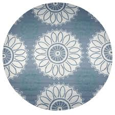 rizzy home azzura hill soft gray medallion 8 ft x 8 ft round outdoor