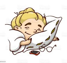 Happy Sleeping Cartoon Girl With Pillow And Blanket Vector Isolated  Illustration Stock Illustration - Download Image Now - iStock