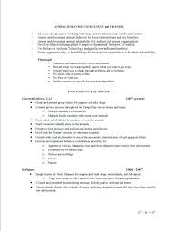 Dog Trainer Sample Resume
